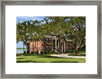 1931 Florida Waterfront Home - 1 Framed Print by Frank J Benz