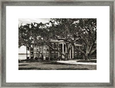 1931 Florida Waterfront Home - 3 Framed Print by Frank J Benz
