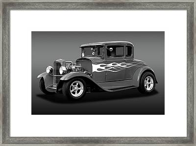 Framed Print featuring the photograph 1931 Ford Model A 5 Window Coupe  -  1931ford5winmdlacpebw172189 by Frank J Benz