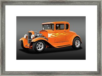 Framed Print featuring the photograph 1931 Ford Model A 5 Window Coupe  -  1931fordmdlacoupefa172189 by Frank J Benz