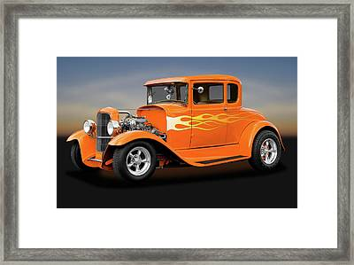 Framed Print featuring the photograph 1931 Ford Model A 5 Window Coupe  -  1931fordmodela172189 by Frank J Benz