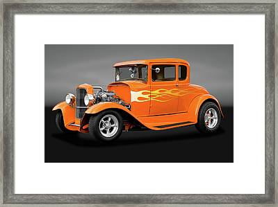 Framed Print featuring the photograph 1931 Ford Model A 5 Window Coupe  -  1931modelafordgry172189 by Frank J Benz