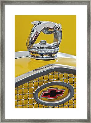 1931 Ford Quail Hood Ornament 2 Framed Print by Jill Reger