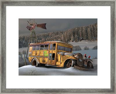 1931 Ford School Bus Framed Print