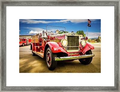 1931 Mack - Heber Valley Fire Dept. Framed Print