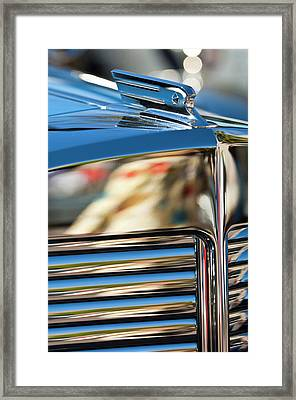 1931 Marmon Sixteen Coupe Hood Ornament Framed Print by Jill Reger