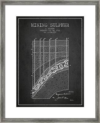 1931 Mining Sulphur Patent En38_cg Framed Print