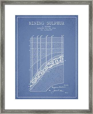 1931 Mining Sulphur Patent En38_lb Framed Print