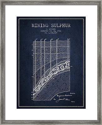 1931 Mining Sulphur Patent En38_nb Framed Print