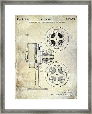 1931 Movie Projector Patent Framed Print