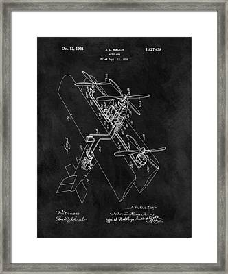 1931 Plane Patent Framed Print by Dan Sproul
