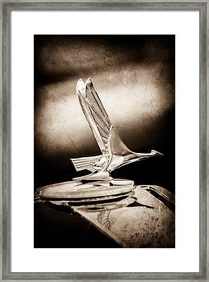 1931 Studebaker President Four Seasons Roadster Hood Ornament -1066s Framed Print by Jill Reger