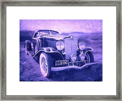 1932 Auburn Speedster Violet Grunge Framed Print