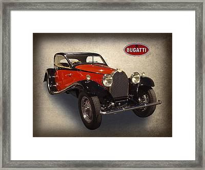 1932 Bugatti Framed Print by Daniel Hagerman