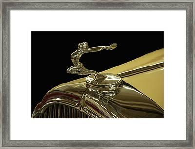 1932 Buick Flying Lady Hood Ornament Framed Print