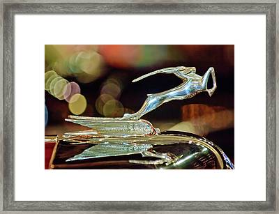 1932 Chrysler Imperial Hood Ornament 1 Framed Print by Jill Reger