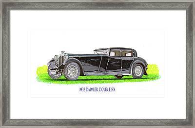 1932 Daimler Double Six Framed Print