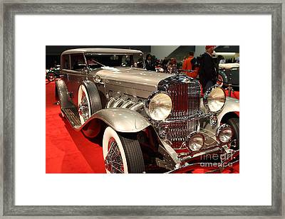 1932 Duesenberg Sj Turing Front Angle Framed Print by Wingsdomain Art and Photography