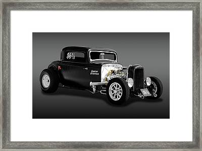1932 Ford 3 Window Coupe - Sunday Stripper  -  1932deucecoupefa170803 Framed Print