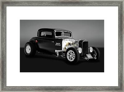 1932 Ford 3 Window Coupe - Sunday Stripper  -  1932ford3wincoupegry170803 Framed Print