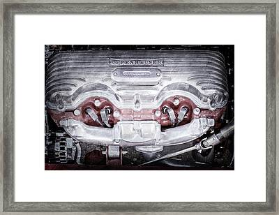 1932 Ford 409 Engine -0037ac Framed Print by Jill Reger