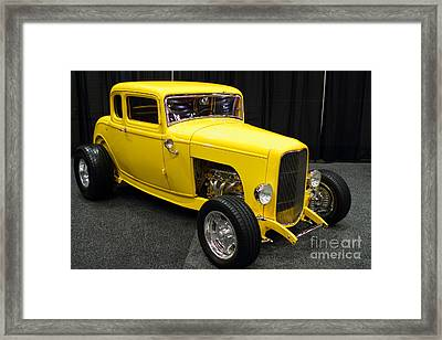 1932 Ford 5 Window Coupe . Yellow . 7d9275 Framed Print by Wingsdomain Art and Photography