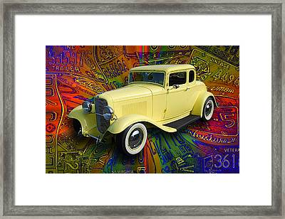 1932 Ford Coupe Framed Print by Richard Farrington
