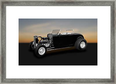 1932 Ford Deuce Coupe Convertible Hot Rod   -   32fdducp400 Framed Print