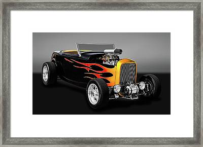 1932 Ford Deuce Coupe High Boy - Grounds 4 Divorce  -  32fordhbgry9579 Framed Print