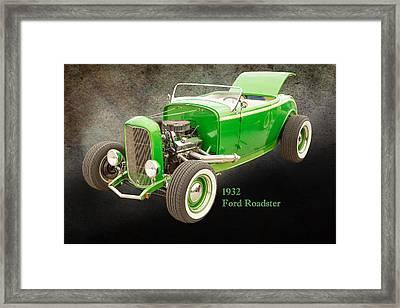 1932 Ford Roadster Color Photographs And Fine Art Prints 004.02 Framed Print by M K  Miller