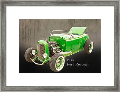 1932 Ford Roadster Color Photographs And Fine Art Prints 006.02 Framed Print by M K  Miller