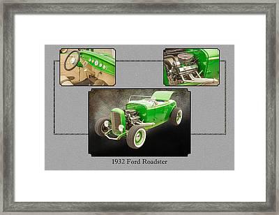 1932 Ford Roadster Color Photographs And Fine Art Prints 008.02 Framed Print by M K  Miller