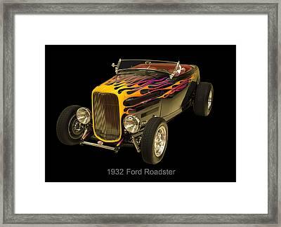 1932 Ford Roadster Hot Rod Framed Print by Chris Flees
