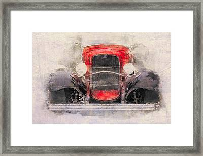 1932 Ford Roadster Red And Black Framed Print