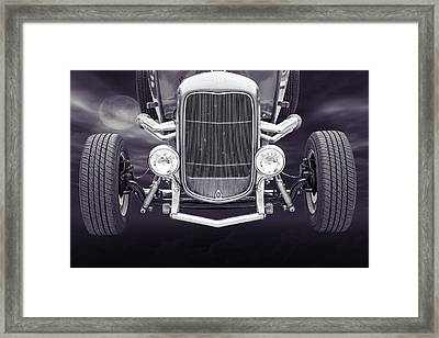 1932 Ford Roadster Sepia Posters And Prints 013.01 Framed Print by M K  Miller