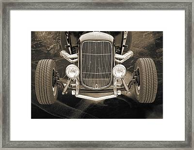 1932 Ford Roadster Sepia Posters And Prints 014.01 Framed Print by M K  Miller