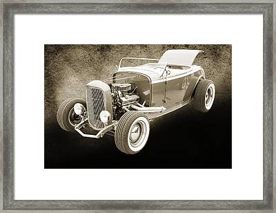 1932 Ford Roadster Sepia Posters And Prints 015.01 Framed Print by M K  Miller