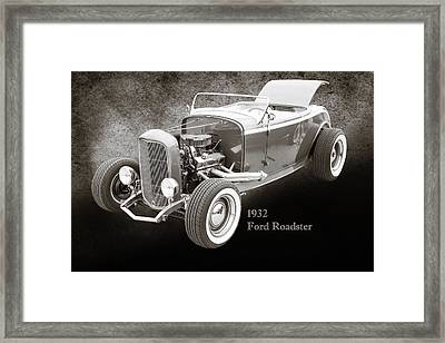 1932 Ford Roadster Sepia Posters And Prints 016.01 Framed Print by M K  Miller