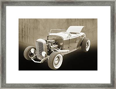 1932 Ford Roadster Sepia Posters And Prints 017.01 Framed Print by M K  Miller