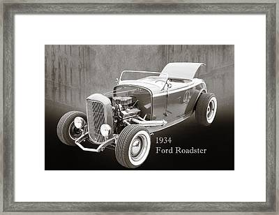 1932 Ford Roadster Sepia Posters And Prints 018.01 Framed Print by M K  Miller