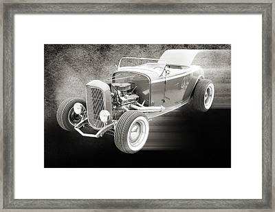 1932 Ford Roadster Sepia Posters And Prints 019.01 Framed Print by M K  Miller