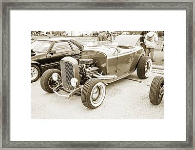 1932 Ford Roadster Sepia Posters And Prints 021.01 Framed Print by M K  Miller