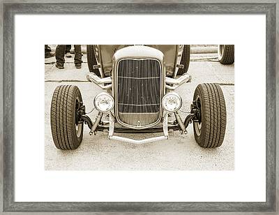 1932 Ford Roadster Sepia Posters And Prints 022.01 Framed Print by M K  Miller