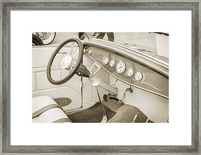 1932 Ford Roadster Sepia Posters And Prints 024.01 Framed Print by M K  Miller