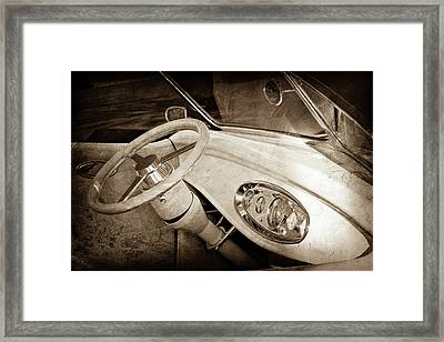 1932 Ford Roadster Steering Wheel -0225s Framed Print by Jill Reger