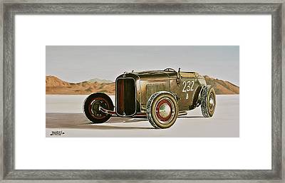 1932 Ford Rolling Bones Roadster Framed Print by Branden Hochstetler