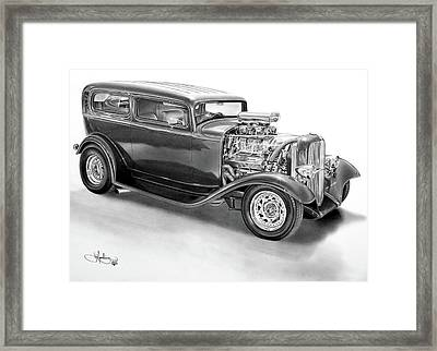 1932 Ford Tudor Drawing Framed Print