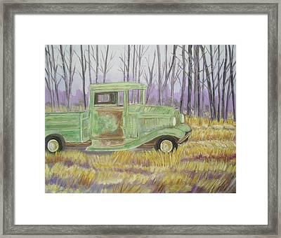 1932  Greenford Pickup Truck Framed Print by Belinda Lawson
