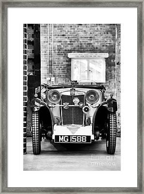 1932 Mg Monochrome Framed Print
