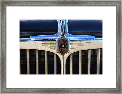 1932 Nash 980 Emblem Framed Print by Mike Martin